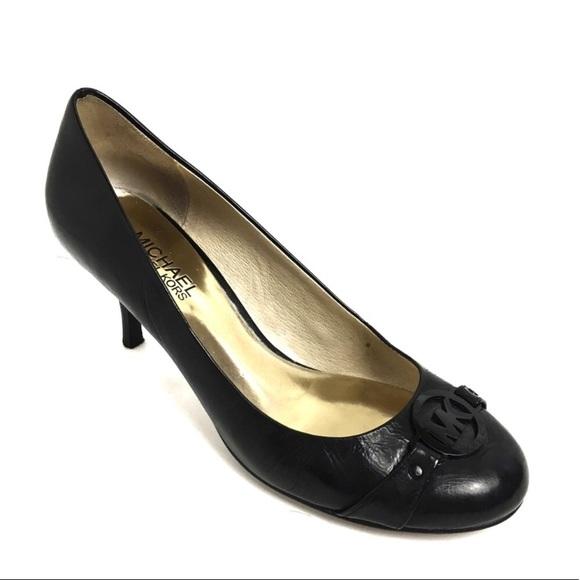 Michael Kors Black Heels With Mk Emblem